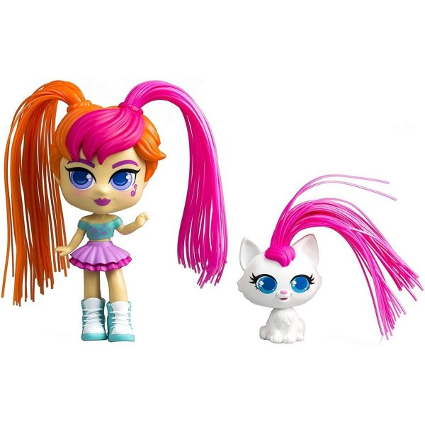 Boneca Curli Girls e Mascote Birthday Girl - Rosita