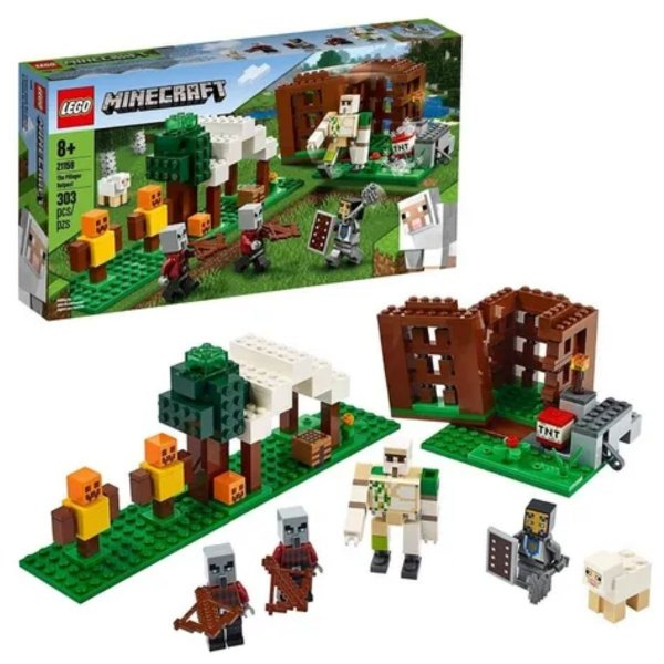Lego Minecraft The Pillager Outpost 303pçs - Lego