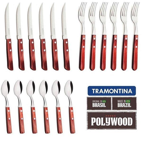 Kit Faqueiro De Churrasco Pollywood Com 18 Peças - Tramontina