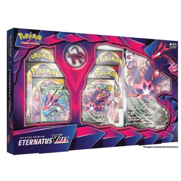 Box Pokemon Coleção Premium super raro Eternatus V Max Copag