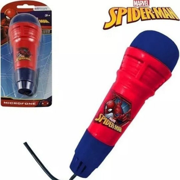 Microfone Com Eco Homem Aranha - Etitoys