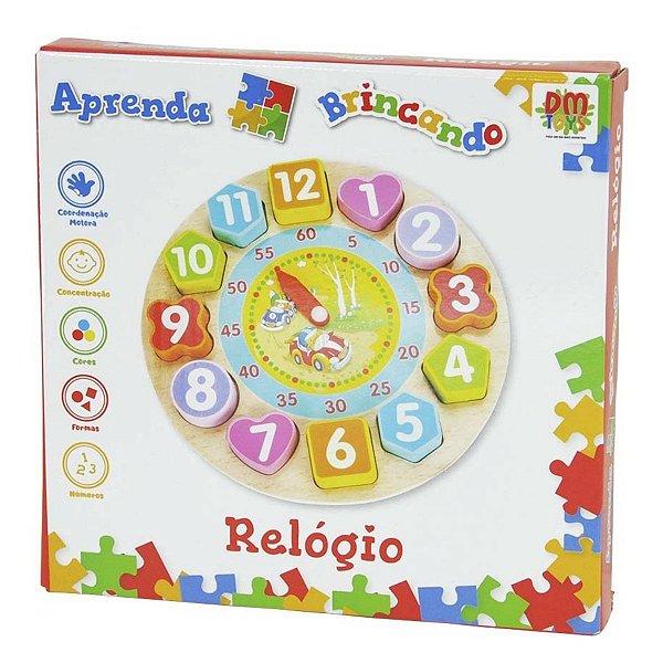 Brinquedo Didático Aprenda Brincando Com Relógio - Dm Toys