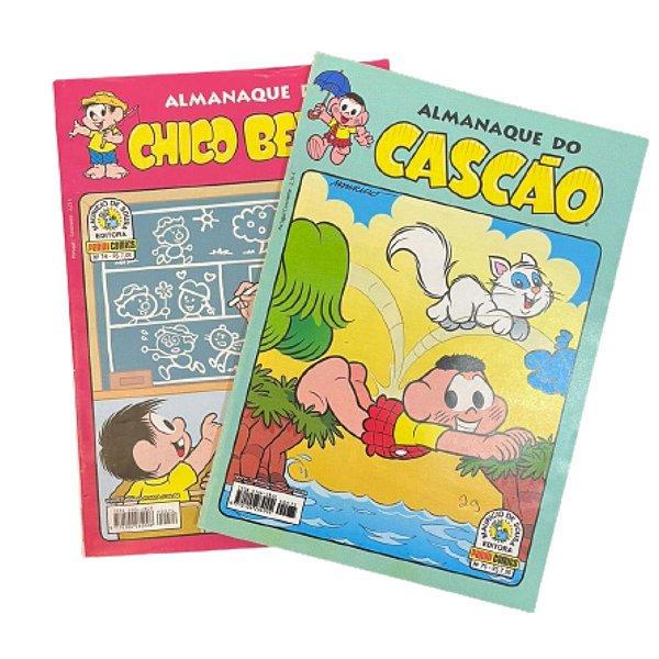 Kit  2 Gibis Turma Da Mônica Cascão e Chico Bento Almanaque