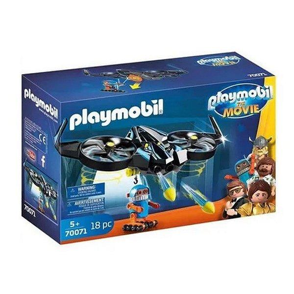 Playmobil O Filme Robotitron Com Drone 70071 Sunny
