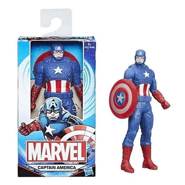 Boneco Capitão America Marvel 15cm Basic Series Hasbro B1686