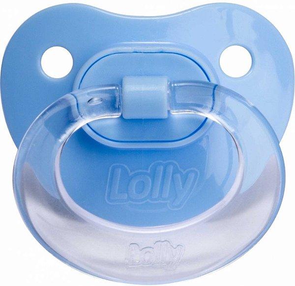 Chupeta Lolly Baby Special Silicone Ortodôntico T2- Azul