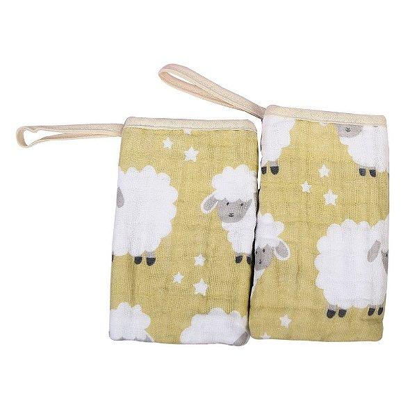 Babete Soft C/ 2 Unidades Ovelha - Filhotes