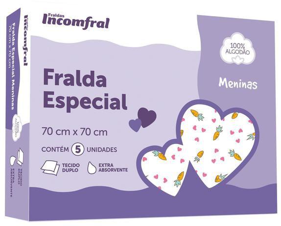 Kit Fralda Especial C/ 5 Unidades estampada Sortida