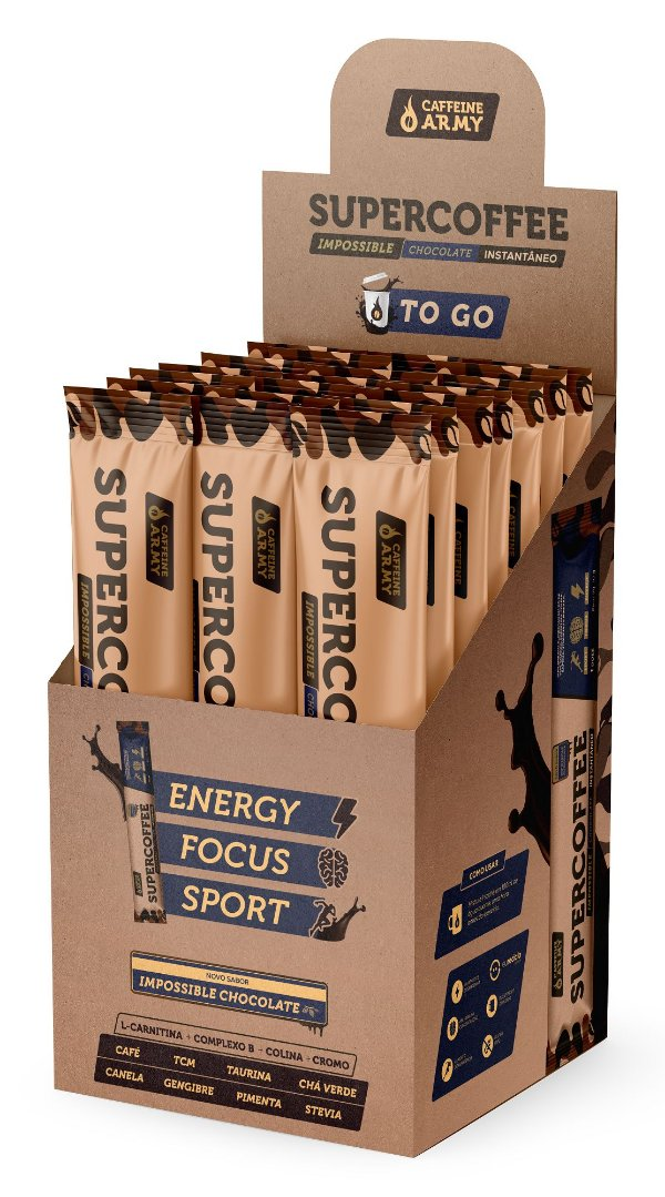 Supercoffee To Go Impossible Chocolate com 14 saches