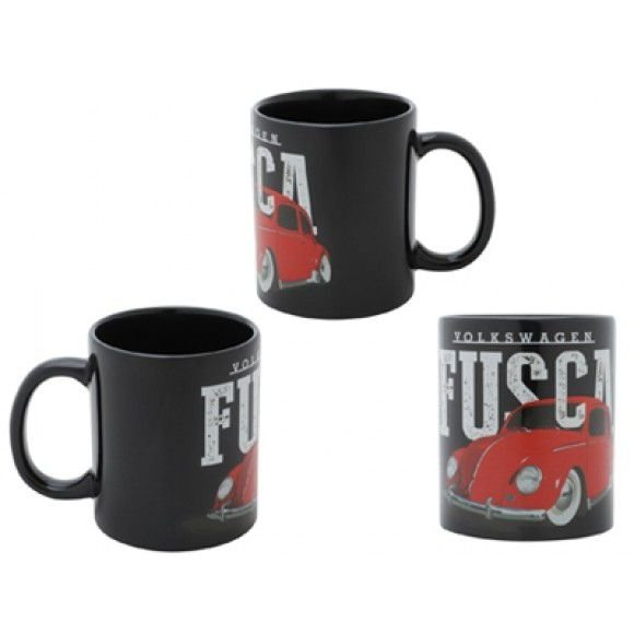 Caneca VW Fusca Lower Car Preto 320 ml