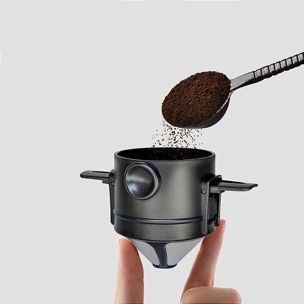 Filtro de café inox portátil e reutilizável (Sem copo)