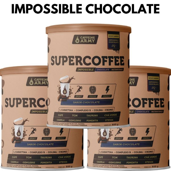 3 Latas de Supercoffee Impossible Chocolate 220g