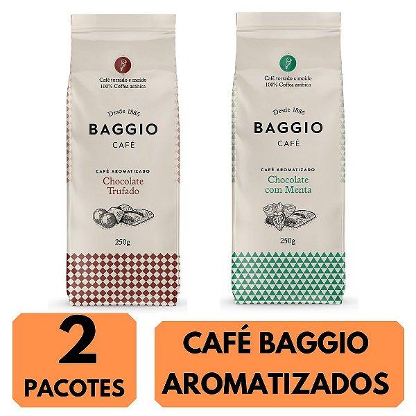 2 Cafés Aromatizados Baggio (Chocolate Trufado / Chocolate com Menta )