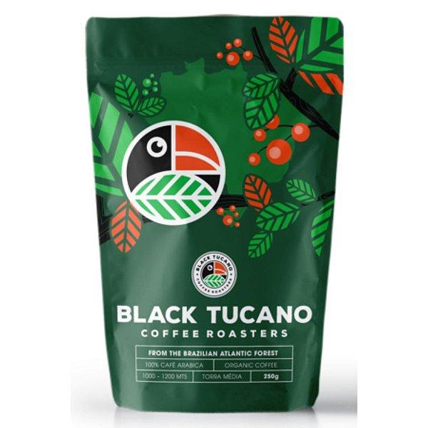 Café Black Tucano Organic Coffee em grãos  250 g