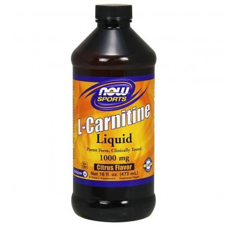 L-CARNITINE LIQUID 1000mg 473ml Now Sports - Citrus Flavor