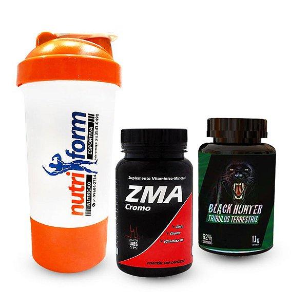 ZMA 90 caps + Trib. 90 tabletes + COQUETELEIRA GRATIS