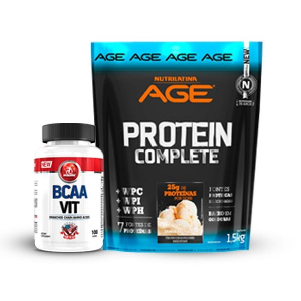 BCAA VIT 100 Capsulas + Age Protein Complete 1.8KG
