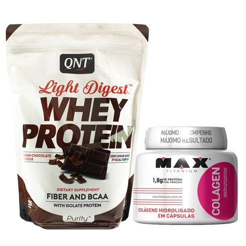 Whey Protein QNT Light Digest 500g + Colagen 100Caps