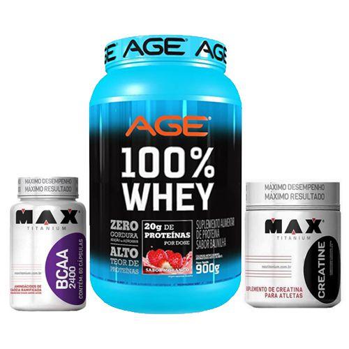WHEY AGE + BCAA MAX 2400 100 CAPS + CMAX 150g