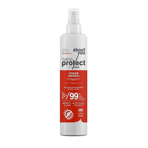 Spray Virucida e Bactericida Para Corpo e Vestuário - Fresh - Nano Protect