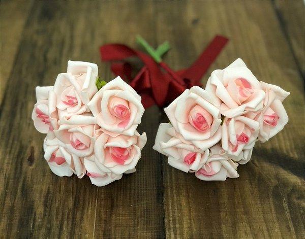 Buquê rosa diamante e marsala para Madrinhas
