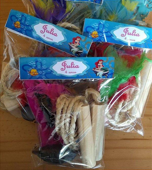 Kit peteca e corda, tema Ariel