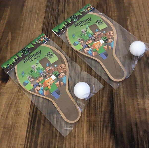 Kit Raquetes ping pong, tema Minecraft