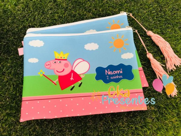 Nécessaire P personalizado tema Peppa Pig