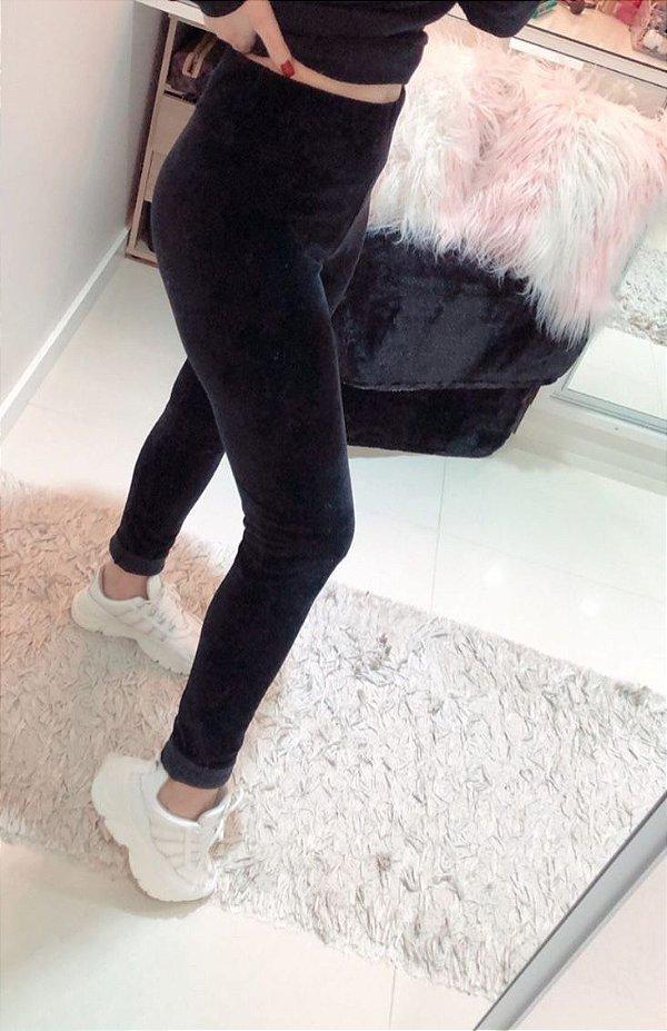 Legging veludo