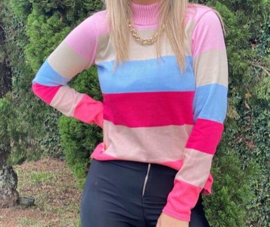 Tricô colorido