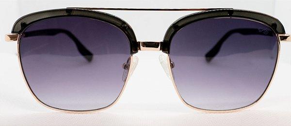 Óculos de Sol Feminino Chiili Beans Quadrado Preto lentes degradê