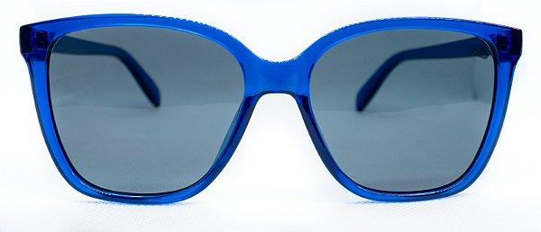 Óculos de Sol Feminino Chiili Beans Quadrado Azul