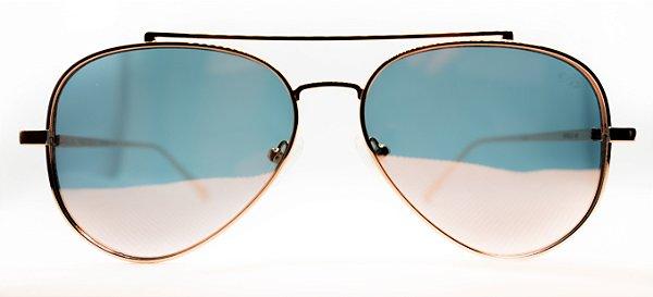Óculos de Sol Feminino Chiili Beans Aviador Rose