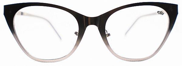 Óculos de Grau Mult Feminino Chilli Beans Gatinho Preto