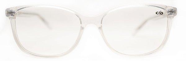 Óculos de Grau Kids Unissex Chilli Beans Quadrado Transparente