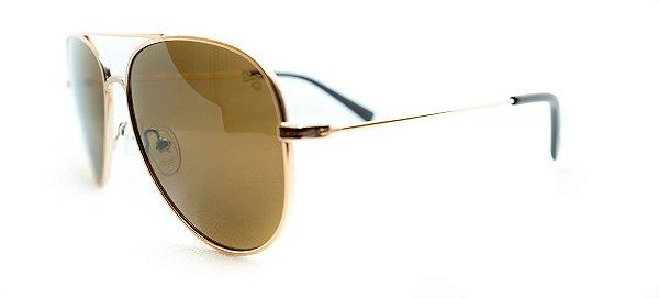 Óculos de Sol Chilli Beans Aviador Unissex Marrom Dourado