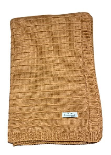 Colcha de Berço / Minicama em Tricot 100x160cm - LR2022 COBRE