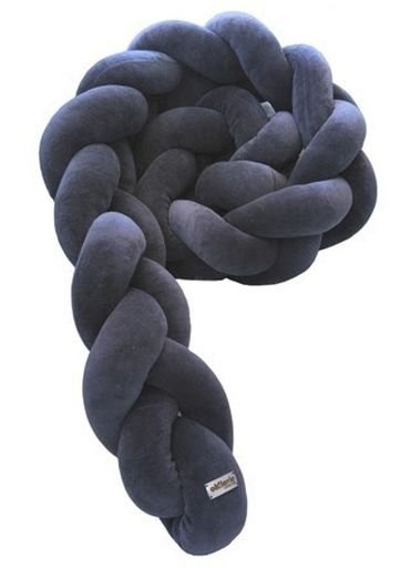 Protetor Trançado - COR: Cinza Escuro