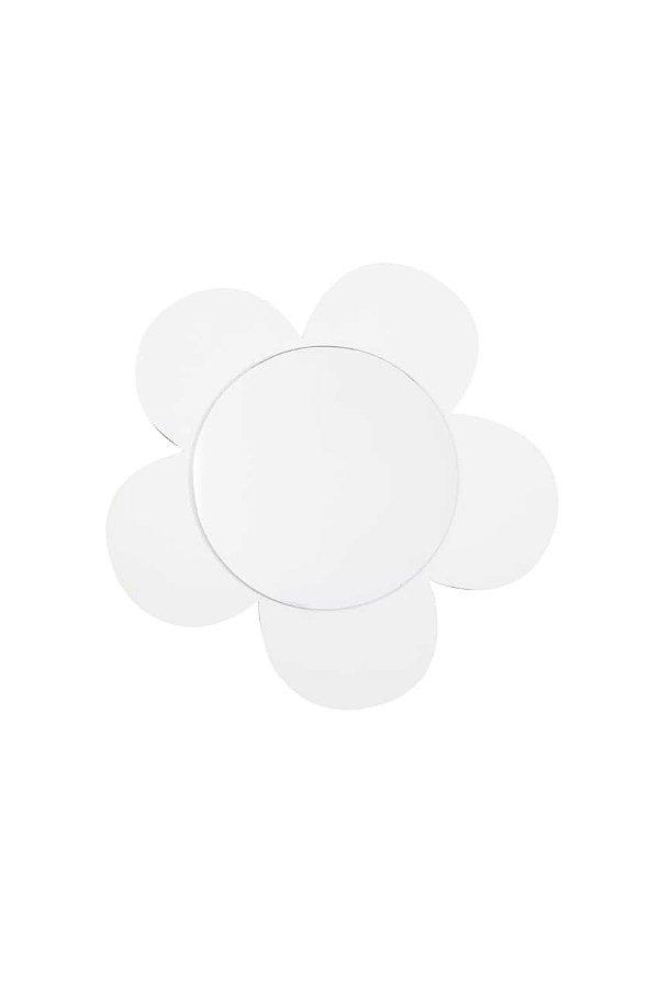 Espelho Flor de mdf Branco