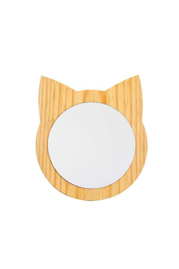 Espelho Gatinho Madeira Pinus
