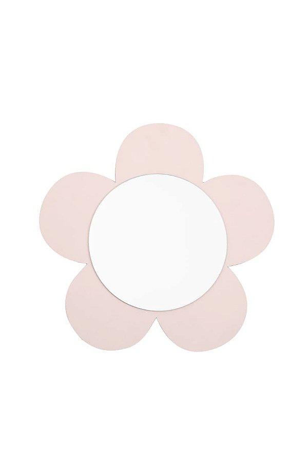Espelho Flor de mdf Rosa