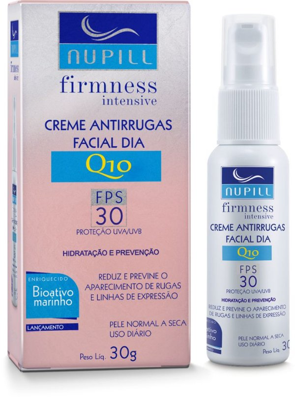 NUPILL FIRMNESS INTENSIVE CREME ANTIRRUGAS FACIAL DIA Q10 FPS30 30G