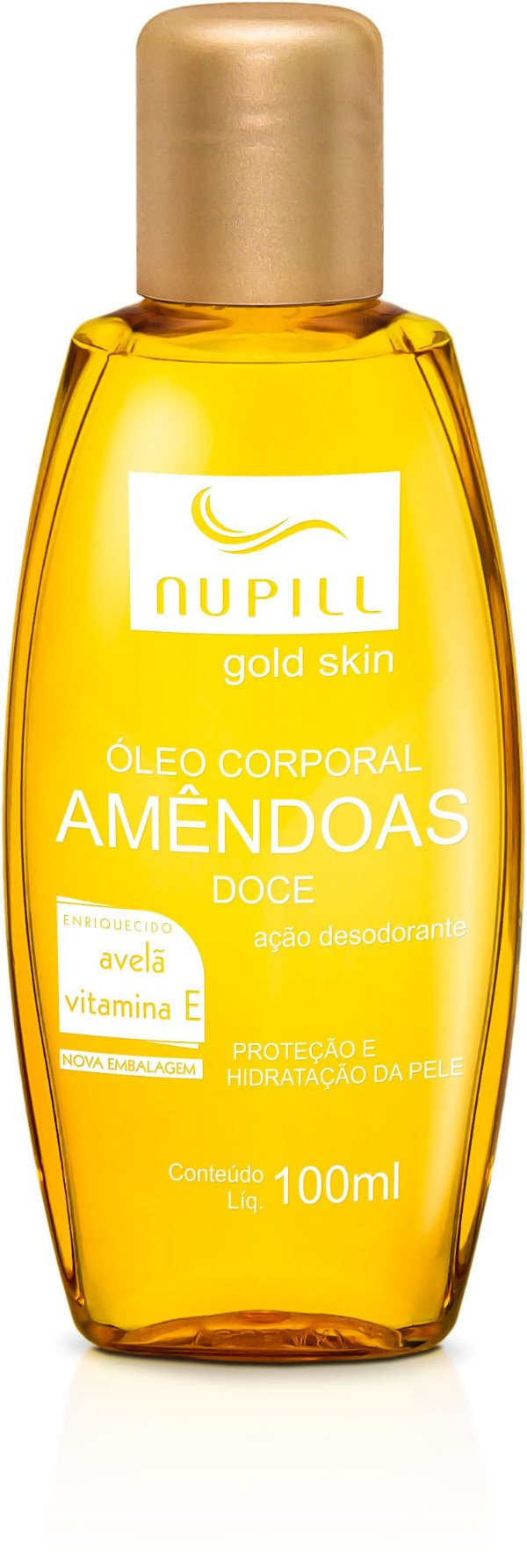 NUPILL GOLD SKIN ÓLEO CORPORAL DE AMÊNDOAS AVELÃ / VITAMINA E 100ML