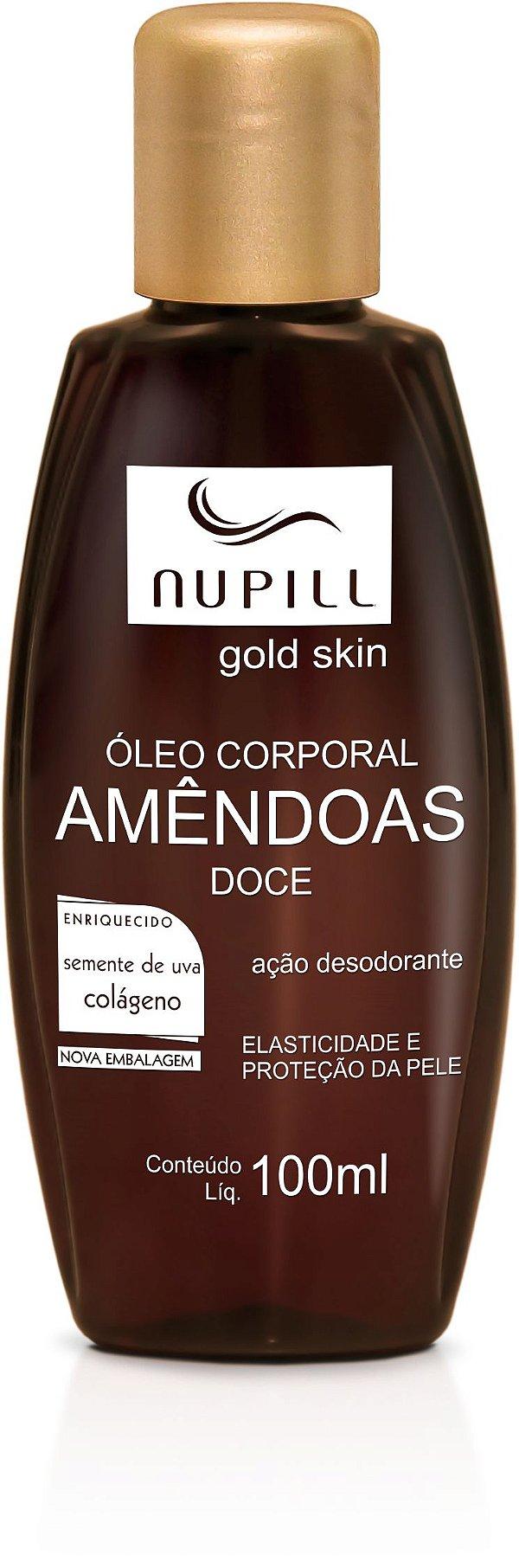 NUPILL ÓLEO CORPORAL AMÊNDOAS SEMENTE DE UVA / COLÁGENO 100ML