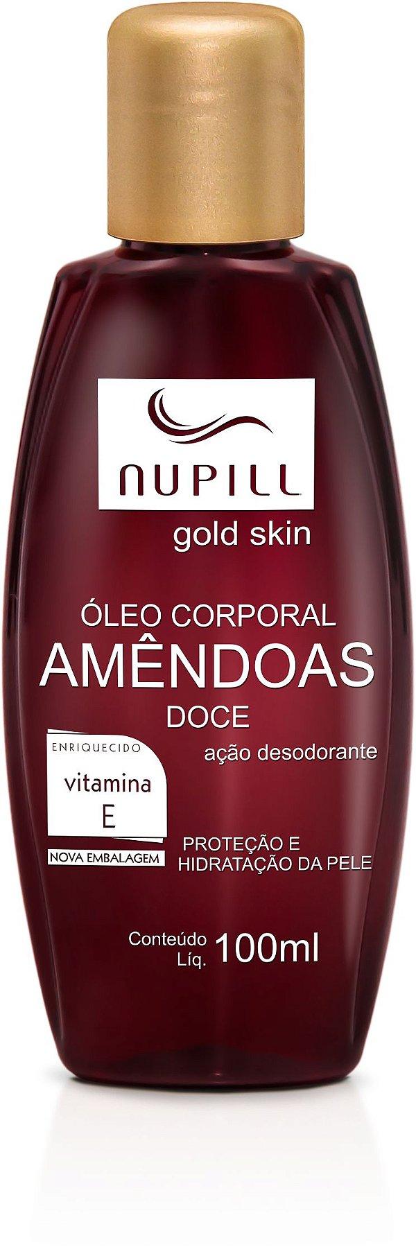 NUPILL ÓLEO CORPORAL AMÊNDOAS VITAMINA E / AVELÃ 100ML