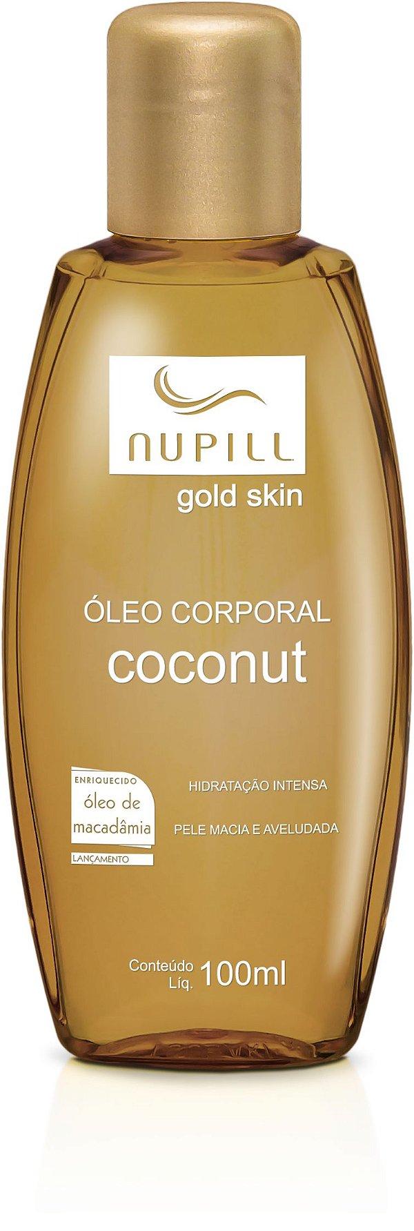 NUPILL ÓLEO CORPORAL COCONUT ÓLEO DE MACADÂMIA 100ML