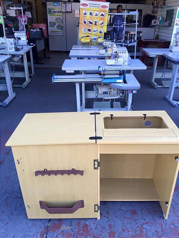 Gabinete Simples Marfim Para Máquina Doméstica