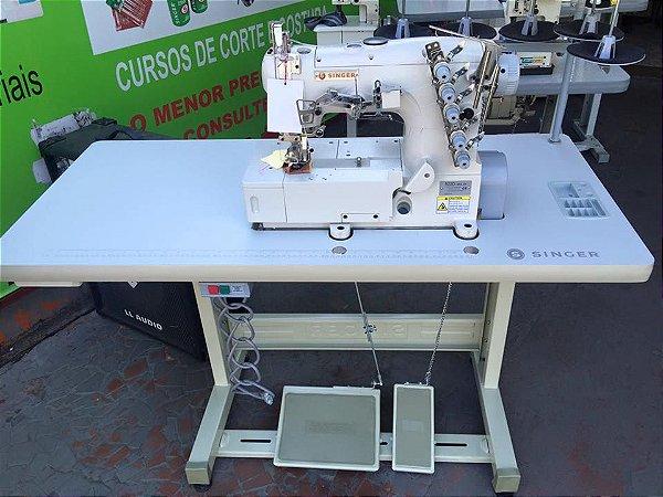 Máquina Galoneira (Colarete) Industrial Singer Completa