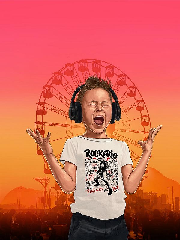 Camiseta Lizzard Infantil Branco