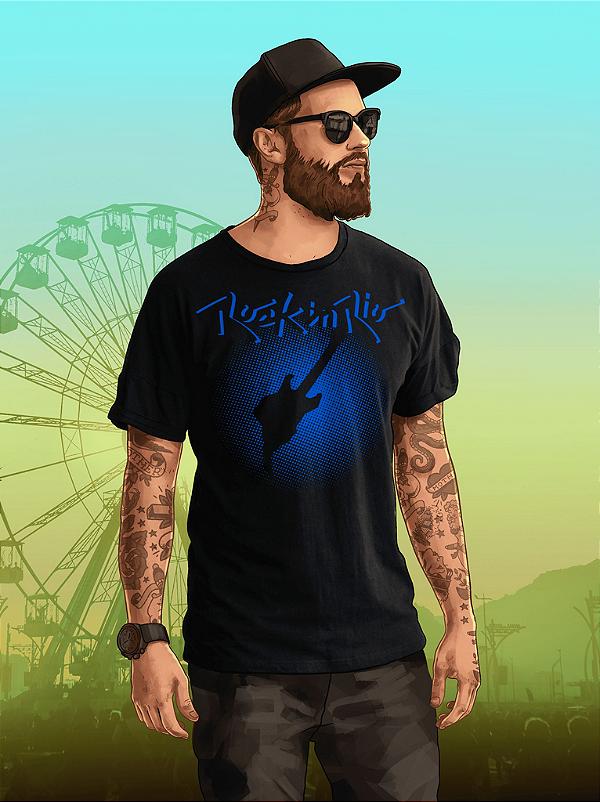 Camiseta Pixel Masculina Preta